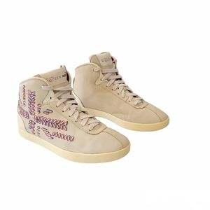 Alexander McQueen For Puma Medius Embroidered Sneakers Whisper White Size 6.5
